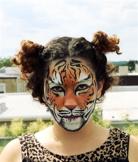 makeup / face / painting / realistic / tiger / leopard ... Realistic Tiger Makeup