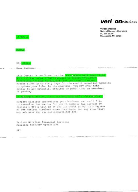 Verizon Letter Of Credit Credit Report Deletion Letter 100 Images Hsbc Apologizes For Reporting Inaccurate Account On