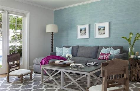 gray blue living room blue and grey living room with wooden furniture