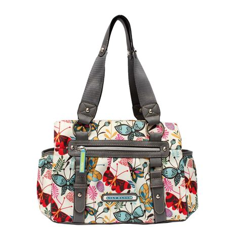 lily bloom triple section satchel lily bloom women s landon triple section satchel butterfly