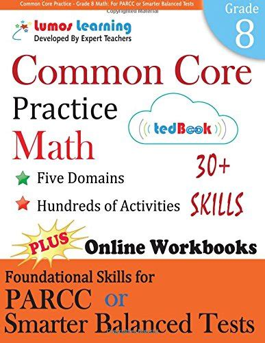 parcc test prep 6th grade math practice workbook and length assessments parcc study guide books common practice grade 8 math workbooks to prepare