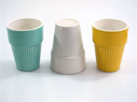 Jones Designs Chairs And Cups by Retro Sixties Ceramic Cups Sold