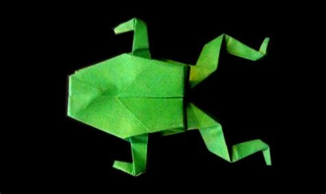 Origami Frog Step By Step - easy step by step tutorial on how to make origami frog