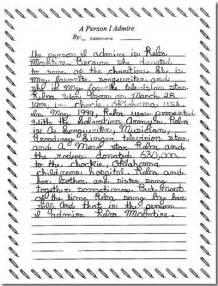 grade 5 writing exemplar 1a