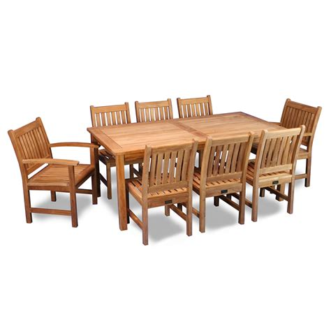 9 Pc Patio Dining Set Regency Teak 9 Saratoga Outdoor Dining Set Atg Stores