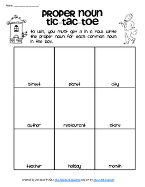 printable noun games for middle school students will really get the concept of common and proper