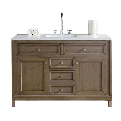 Martin Vanity by Martin Signature Vanities Chicago 48 In W Single Vanity In Whitewashed Walnut With Quartz