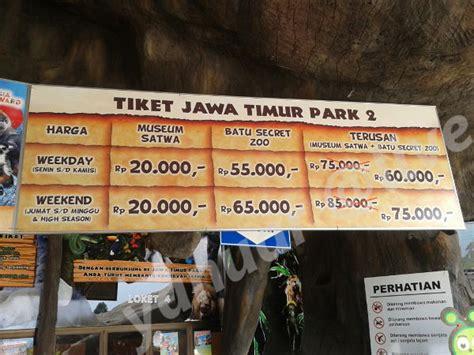 tiket masuk batu secret zoo malang five posting wisata jawa timur park 2 kota batu anuneanu
