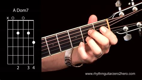 learn guitar youtube learn guitar chords a7 dominant 7 beginner acoustic