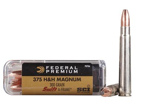 h h federal premium cape shok ammo 375 h h mag 300 grain mpn