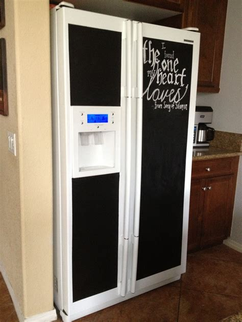 chalkboard paint on fridge chalkboard paint on the refrigerator chalk me