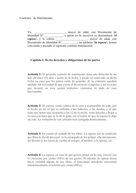 Contrato Capitulaciones Matrimoniales