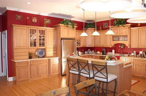 red kitchens with oak cabinets manufactured homes making the move to kabco manufactured