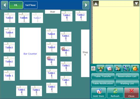 restaurant table layout software screen shots of ezee burrp restaurant pos software