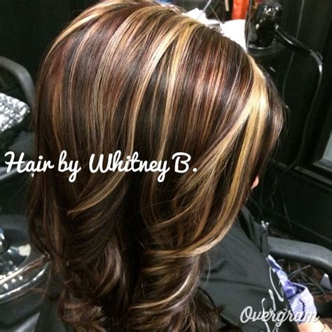 hi and low lites for over 50 reds blonde caramels and browns hair color highlights