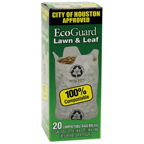 Home Decor Store Houston by Husky Ecoguard 33 Gal City Of Houston Lawn And Leaf Bags