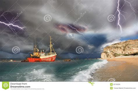 fishing boat in storm video fishing boat in a big storm stock photo image 20735030