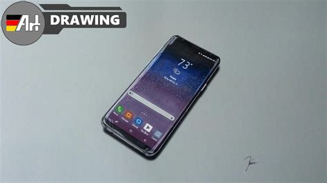 how i draw a samsung galaxy s8 speed drawing