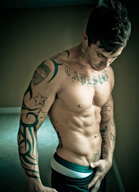 tattoo for men com sleeve tribal and stars tattoo for men tattoos for men