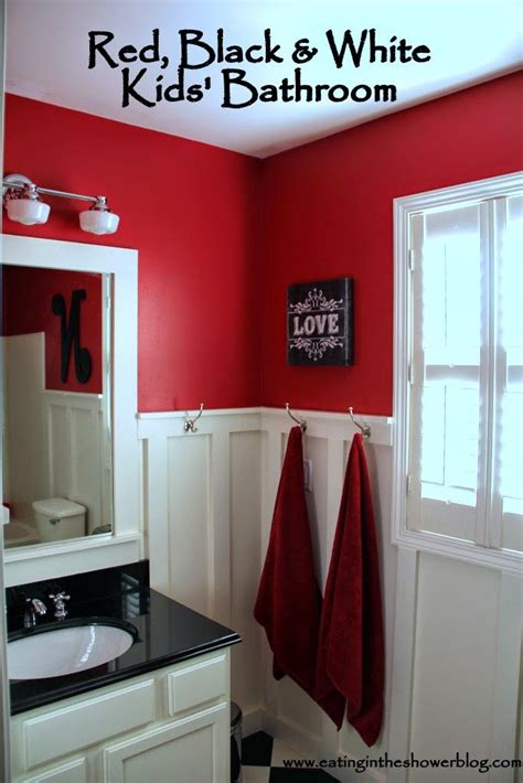 black red and white bathroom red black white kids bathroom kid bathrooms batten and helena source