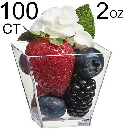 Product Review For Zappy 100 Ct Elegant Square Mini Cube Commercial 100 Ct Clear Mini