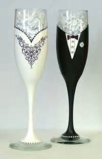 Wedding Wine Glasses Wedding Or Black Tie Chagne Glasses By Aglassofclass On