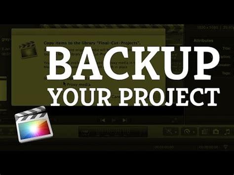 final cut pro backup final cut pro x tutorial backup a project on an external