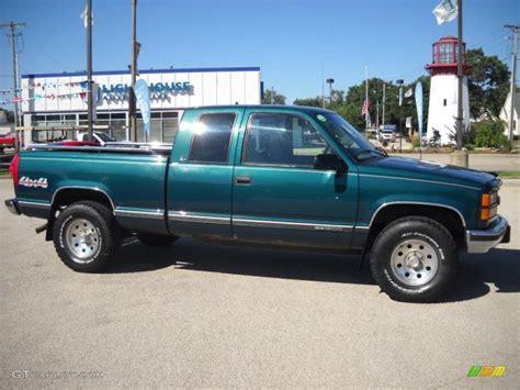 green gmc truck 1996 emerald green metallic gmc 1500 slt extended