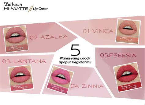 Review Harga Purbasari Lip review and swatch 5 warna terbaru lip matte