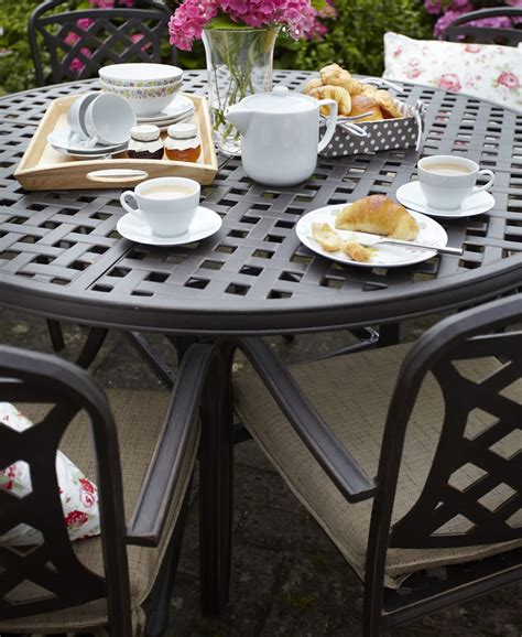 hunter aluminium boot jack berkeley cast aluminium 6 seater round garden dining set