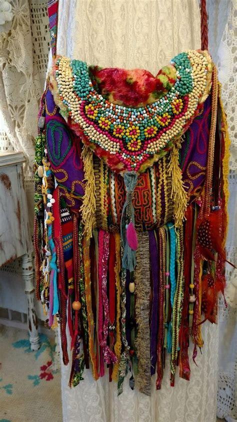 Handmade Boho Clothing - handmade fringe ibiza festival cross fringe bag