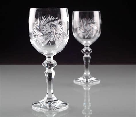Esszimmer Le Mit Kristallen by 2 Vintage Kristall Weingl 228 Ser Schleuderstern