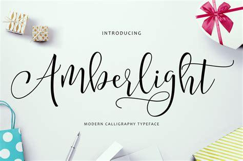 cursive font design online amberlight script a new fresh modern script font