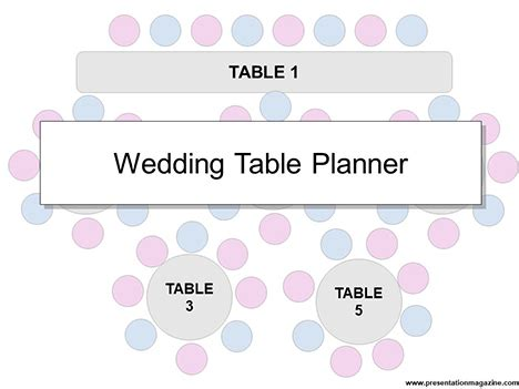 Table Planner Template by Wedding Table Planner Template