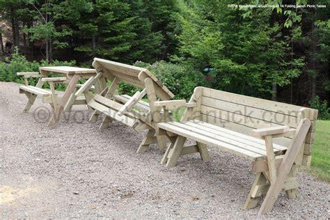folding bench picnic table woodchuckcanuckcom