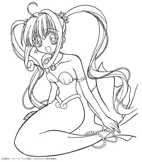 coloring pictures of mermaid melody luchia the mermaid coloring pages hellokids com
