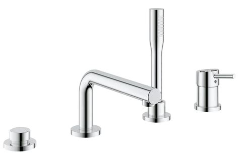 grohe bathtubs grohe concetto 4 hole single lever bath combination set