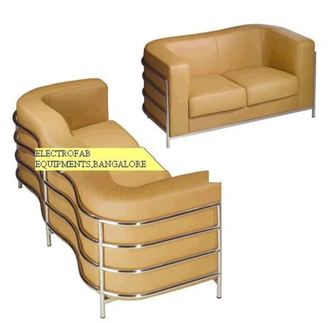 Sofa Set 2 1 1 Stainless Steel Pipe Outer Frame