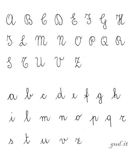 lettere maiuscole alfabeto corsivo tutti a scuola paroledisegnate