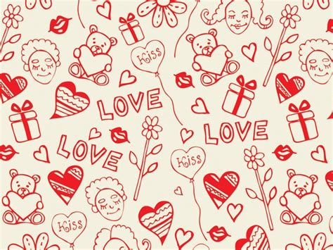 love pattern background vector romantic love seamless pattern vector heart vector