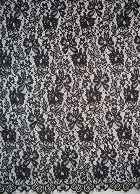 flower pattern lace black floral pattern chantilly style lace fabricone yard