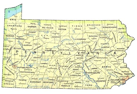 pennsylvania on map of usa map of pennsylvania by phonebook of pennsylvania