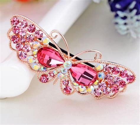 rhinestone hair clip hair band fashion rhinestone butterfly hair clip bangs clip hair