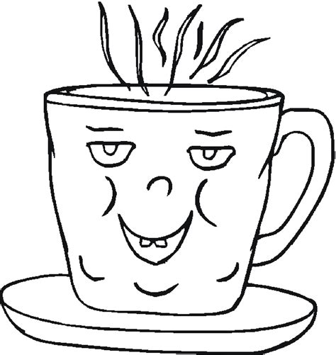 coffee mug coloring pages printable coloring pages