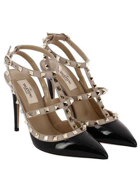 Sepatu Heels High Heels Gelang Back Stud Tb Do Abu valentino pumps rockstud ankle 10 cm heel in bicolor