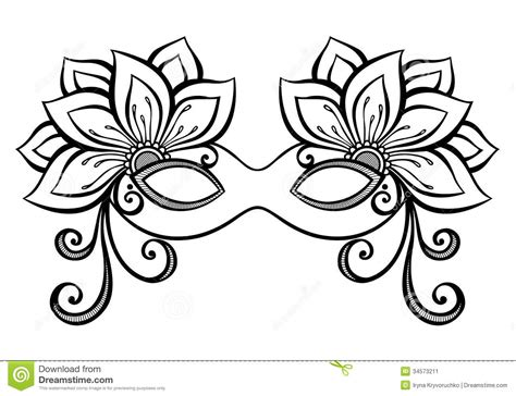 mask template vector masquerade mask stock vector illustration of graphic