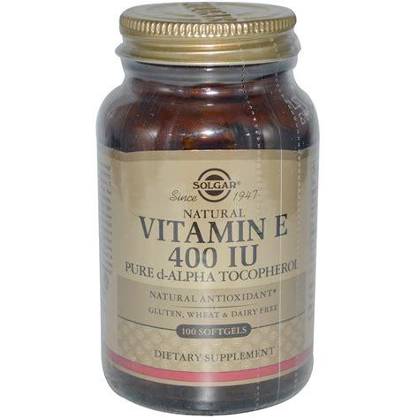 e supplement 400 iu solgar vitamin e 400 iu 100 softgels iherb