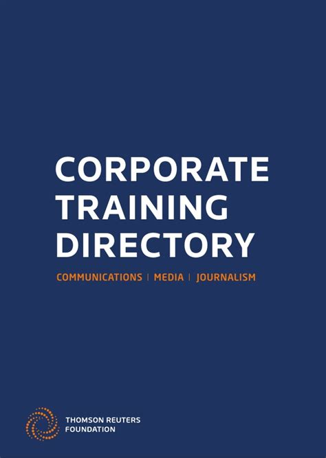 Thomson Reuters Mba Program by Thomson Reuters Foundation Corporate