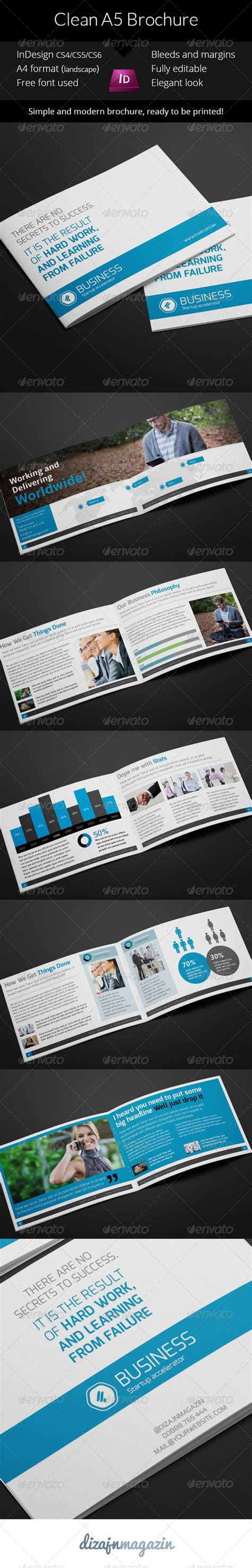 indesign template brochure a5 clean business a5 brochure indesign template graphicriver
