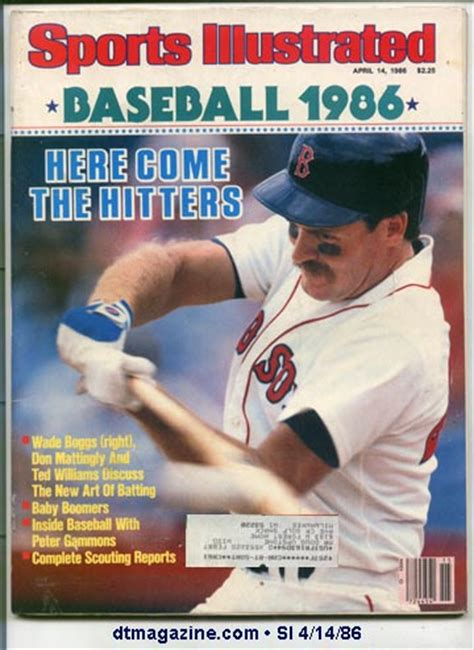 how much does section 8 cover sports illustrated april 14 1986 wade boggs boston red sox